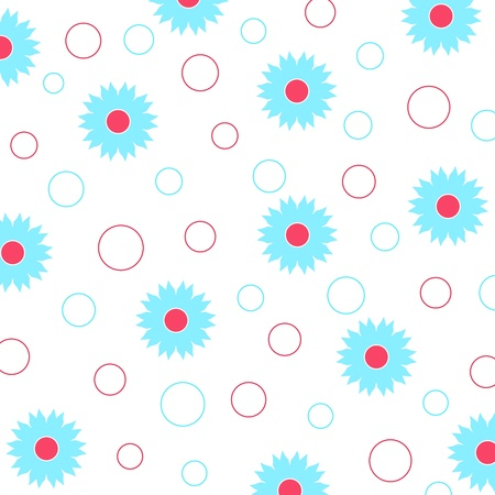 Floral and circle pattern
