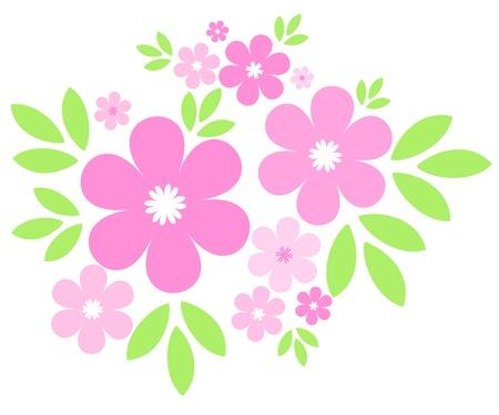흰색 꽃과 나뭇잎
