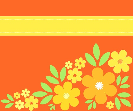 Summer flowers in yellow and orange