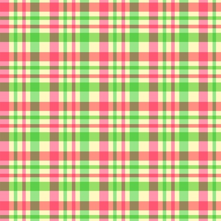 Green pink plaid pattern