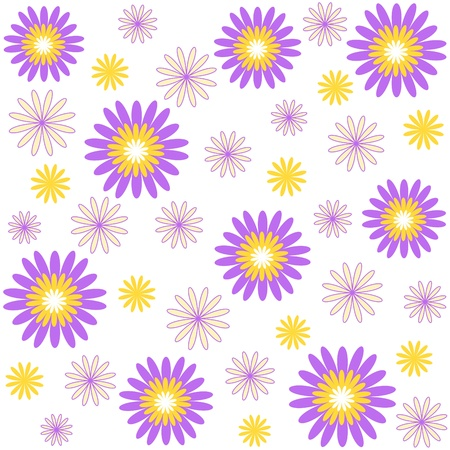 Flower pattern on white