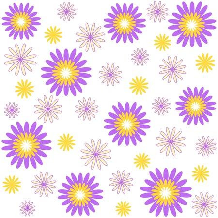 Flower pattern on white