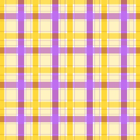 Violet yellow plaid pattern Stock Photo