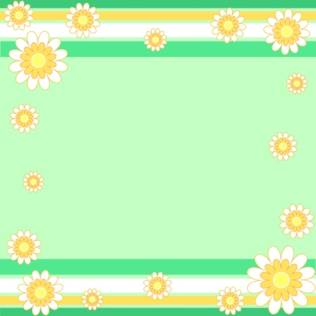 Flowers and stripes pattern