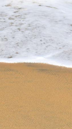 Tropical Sand beach background with long sand beach blue ocean and sky horizon india kerala varkala Reklamní fotografie
