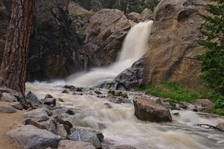 Boulder Falls Stok Fotoğraf
