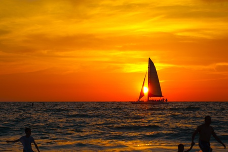 Sunset at the Clearwater beach photo