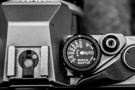 Well Worn Camera in Black and White