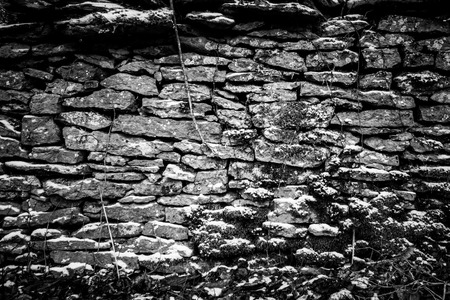 Black and White Rock Wall Banco de Imagens