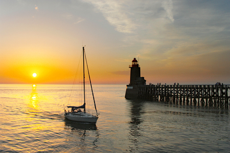 Fecamp - Lighthouse and sunset