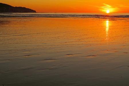Pourville sur mer - Low tide and setting sun