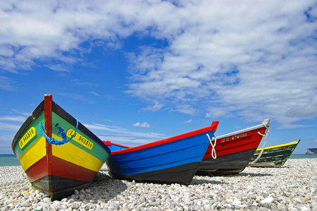 Yport - Colorful boats