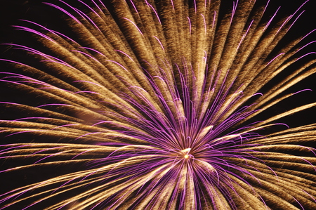 tele up: Fireworks shot with telescope