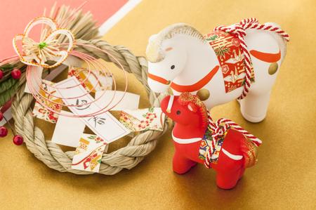 日本馬正月飾り
