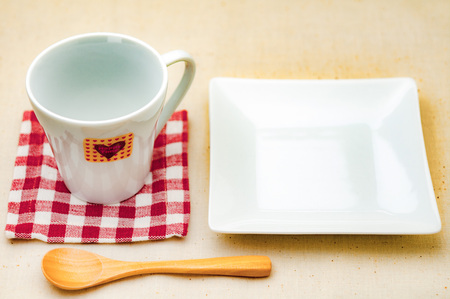 Coffee cups and plates
