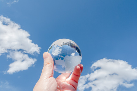 Get listed in the blue sky behind the glass globe