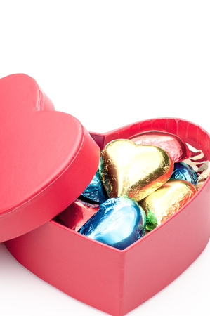 Gifts of the heart-shaped chocolate