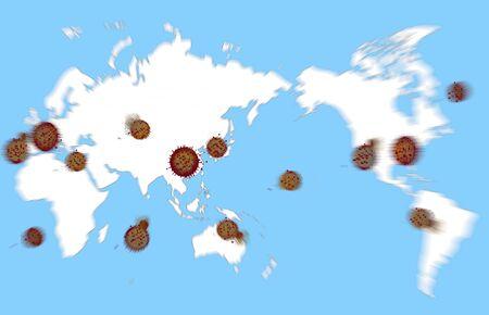 New Coronavirus Enlarged Image (World)