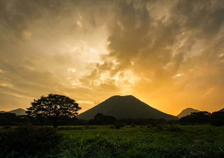 Sunset of Mt. Haruna in midsummer