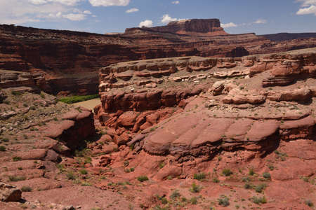 Landscape of the eastern part of Canyonlands National Park in Utah, USA