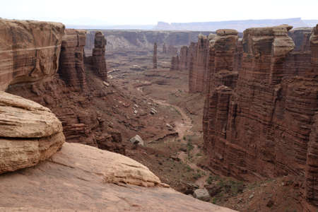 White Rim rock formations at Canyonlands National Park