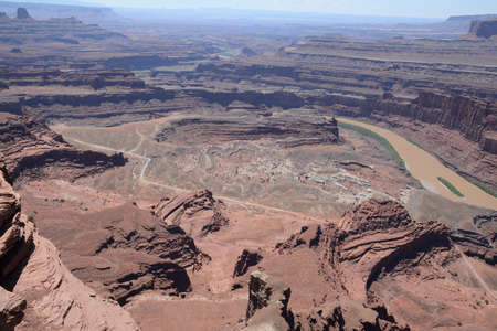 View from Dead Horse Point State Park towards Canyonlands National Park and Colorado river