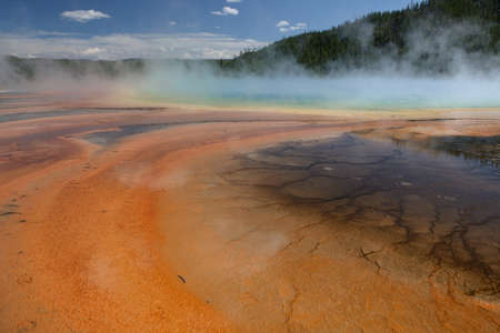 Grand Prismatic Spring at Yellowstone National Park, Wyoming