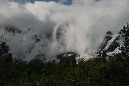 Laughton Glacier, Skagway, Alaska 版權商用圖片