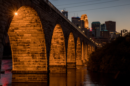 stone arch: Stone Arch at Night Editorial