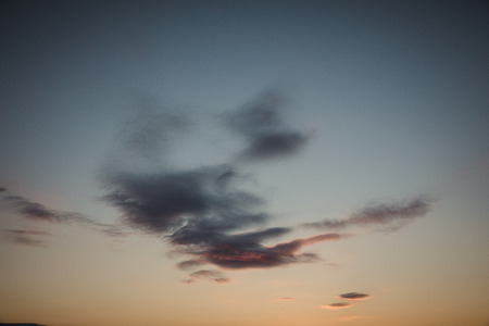 gully: Cloud before Sunset