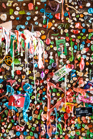 Gum Alley Seattle Stock Photo