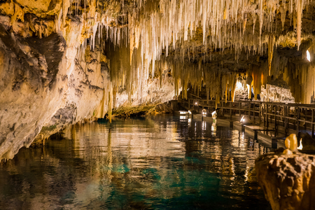Bermuda Crystal cave Stock Photo