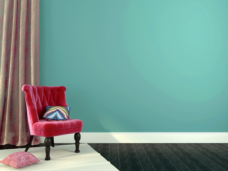 skirting: Romantic interior composition with pink chairs