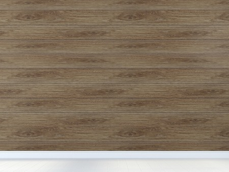 baseboard: Interior background of wall with brown board and a light floor Stock Photo