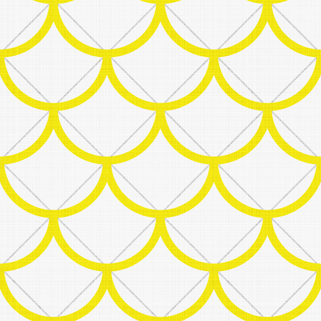 grey scale: Seamless geometric pattern with fish scale design in yellow and white colors Illustration