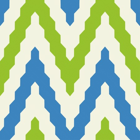 zig zag: Seamless geometric pattern with colorful zig zag in blue and green colors