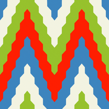 zig zag: Seamless geometric pattern with colorful zig zag in red, blue and green colors