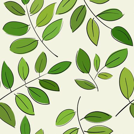 sin patrón, con hermosas ramas con hojas verdes