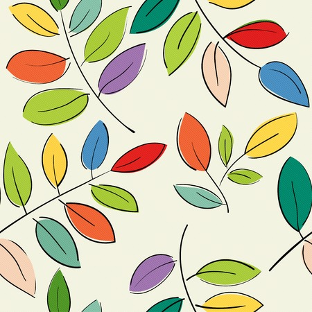 industry pattern: Seamless pattern with beautiful branches with colorful leaves Illustration