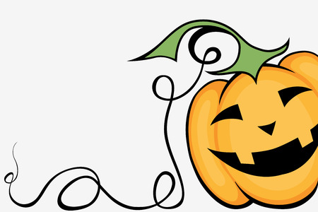 pumpkin: Funny smiling pumpkin that looks out of the corner Illustration