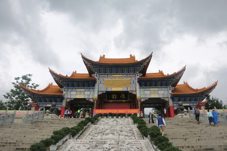 Three Pagodas in Yunnan, China Editorial