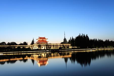 moat wall: Jingzhou Ancient City