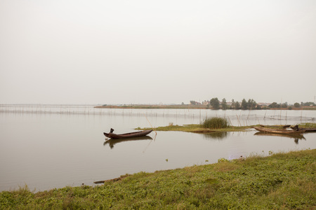 long lake: Long Lake in Jingzhou Stock Photo