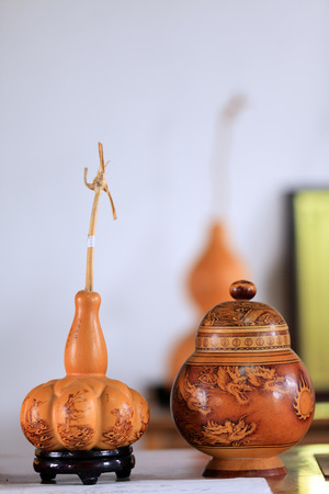 folk heritage: Draw on the gourd