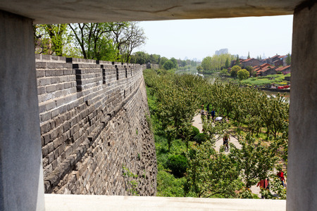 moat wall: ancient city of Jingzhou scenery Editorial