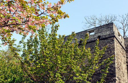 moat wall: ancient city of Jingzhou scenery Stock Photo