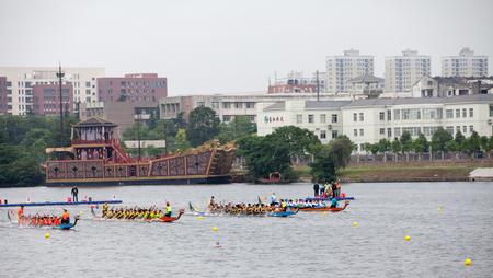 moat wall: Dragon Boat Festival Editorial