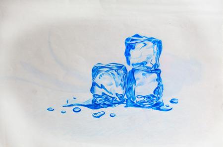 ice cube: hand drawn ice cube