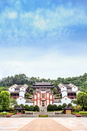 devotions: Sunny days, Temple scene Editorial
