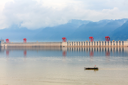 three gorges: The Three Gorges Dam scenery in sunny day